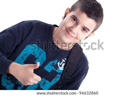 schoolboy - stock photo