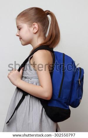 schoolgirl - stock photo