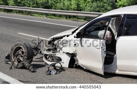 schosse accident. - stock photo