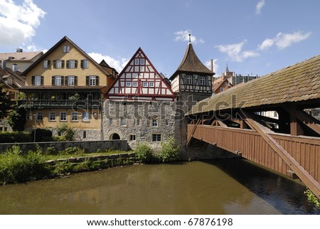 Schwabisch Hall (1204.)- town in the German state of Baden-Wurttemberg - stock photo