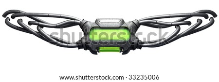 Sci-fi 3D interface for website. - stock photo
