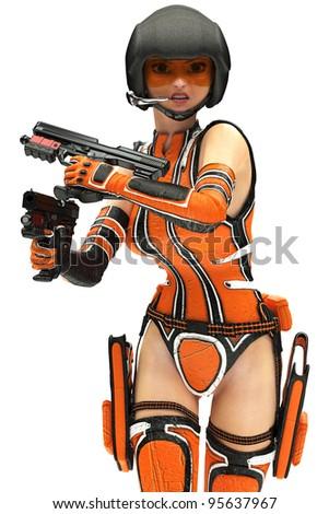 Sci-Fi Girl - stock photo