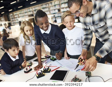 Science Electronic Circuit Experiment Laboratory Concept - stock photo