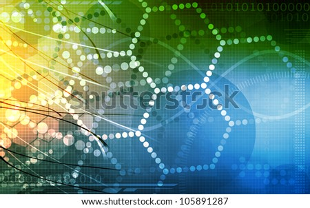 Science Research as a Concept for Presentation - stock photo