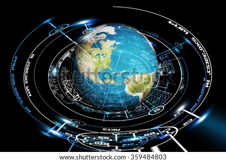 Science Research.Engineering technology - stock photo