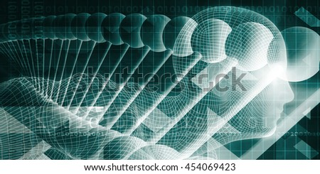 Science Technology and Innovation Design System as Concept 3D Illustration Render - stock photo