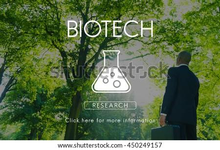 Scientific Biochemistry Genetics Engineering Concept - stock photo