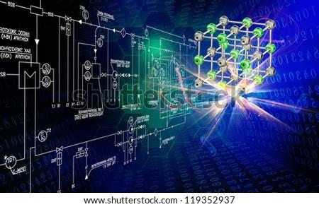 Scientific innovative  research - stock photo