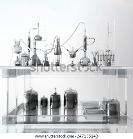 Scientific Laboratory - stock photo