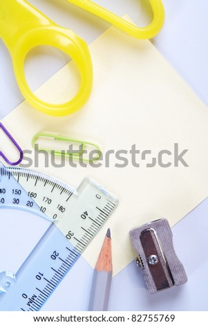 Scientific supply, background with copy space. - stock photo