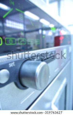 Scientist experiments, Instrumental analysis of chemical test.Festive background with defocused lights, Bokeh , Lighten, Line of light, - stock photo