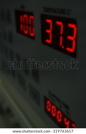 Scientist experiments, Instrumental analysis of chemical test. Festive background with defocused lights, Bokeh , Lighten, Line of light, - stock photo
