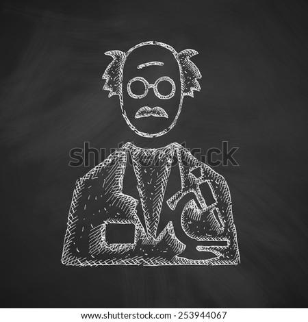 scientist icon - stock photo