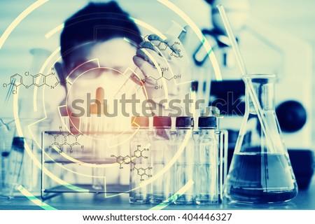 Scientists and scientific equipment In the laboratory,Laboratory research concept - stock photo