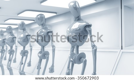 SCIFI futuristic robots - stock photo
