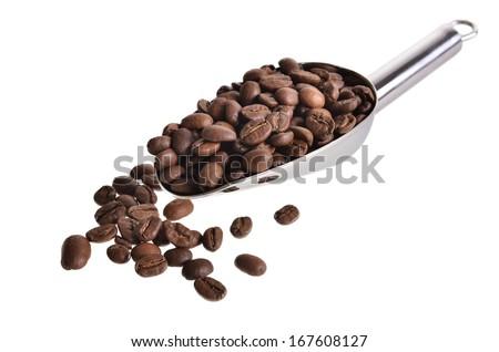 scoop of coffee - stock photo