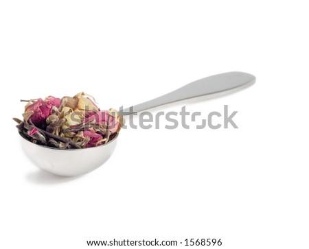 Scoop of tea isolated on white. - stock photo