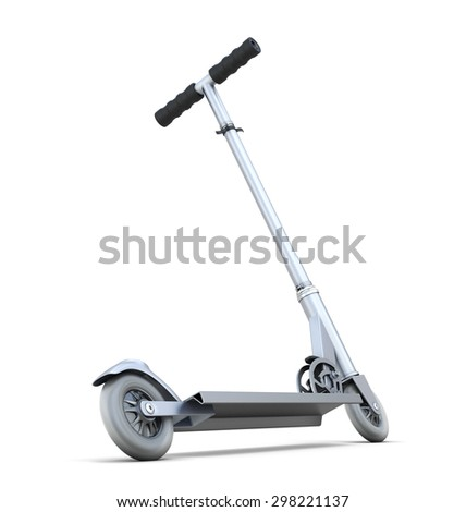 Scooter for children isolated on white background. 3d illustration. - stock photo