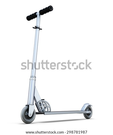 Scooter isolated on white background. 3d illustration. - stock photo