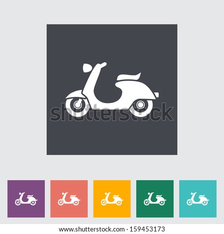 Scooter. Single flat icon.  - stock photo