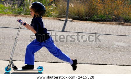Scootering! - stock photo