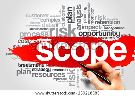 SCOPE word cloud, business concept - stock photo
