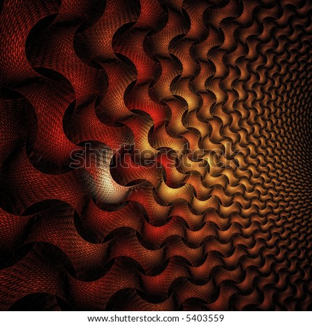 Scorching hot chain design on black background - stock photo
