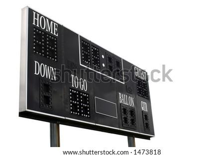 Score Board on white background - stock photo