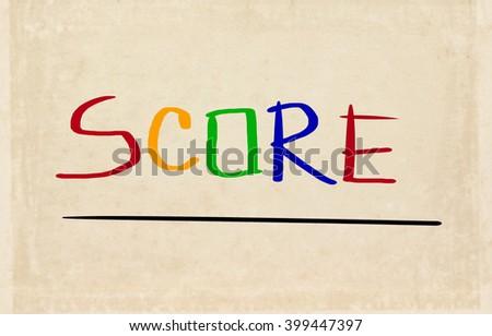 Score Concept - stock photo
