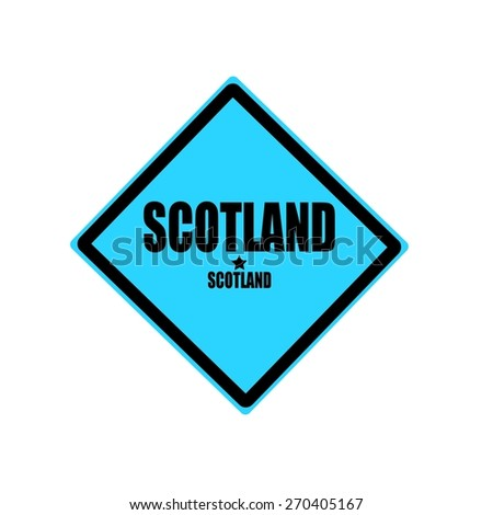 Scotland black stamp text on blue background - stock photo