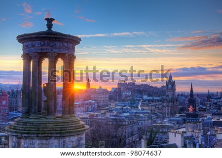 Scotland Edinburgh Calton Hill - stock photo