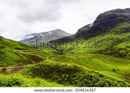 Scotland highlands - stock photo