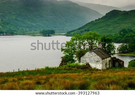 Scotland Loch Lomond West Highland Way - stock photo