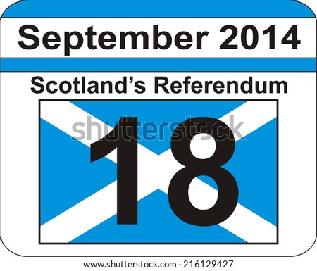 Scotland's Referendum - stock photo
