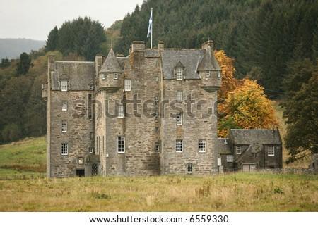 scottish castle - stock photo