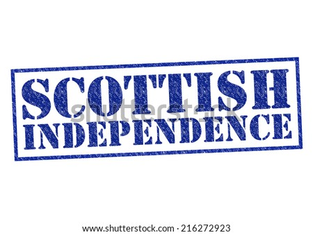 SCOTTISH INDEPENDENCE red Rubber Stamp over a white background. - stock photo