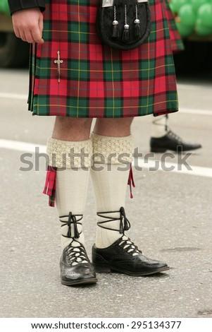scottish kilt - stock photo