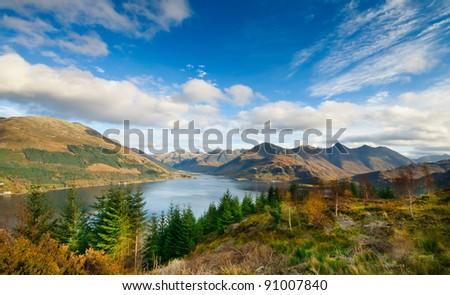 Scottish landscape - stock photo