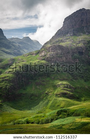 Scottish mountains in summer - stock photo