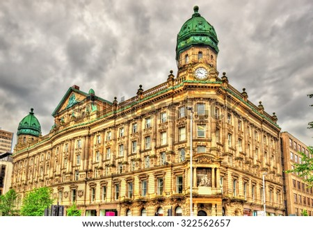 Scottish Provident Institution, a historic building in Belfast - Northern Ireland - stock photo