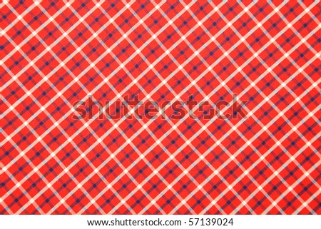 Scottish tissue - white and red - stock photo