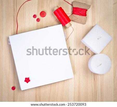 scrap-booking handmade card - stock photo