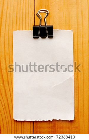 Scrap isolated on wooden background - stock photo