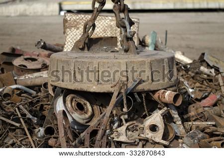 Scrap magnet - stock photo