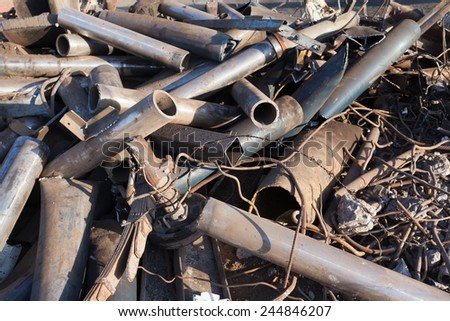 scrap metal background - stock photo