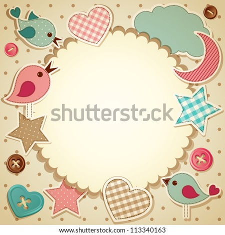 Scrapbook background - raster version - stock photo