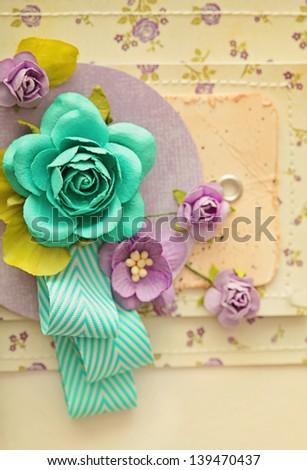 scrapbook  greeting card - stock photo