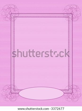 Scrapbook Page Layout - Pink Swirl - stock photo