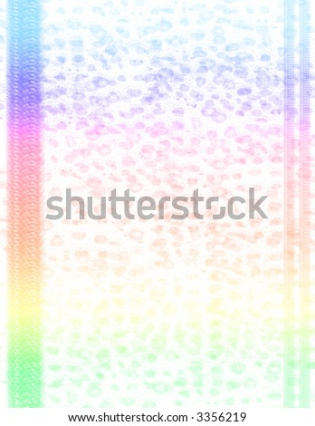 Scrapbook Page Layout - Rainbow Animal Print - stock photo