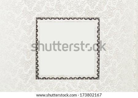 scrapbooking background - wedding album cover - stock photo